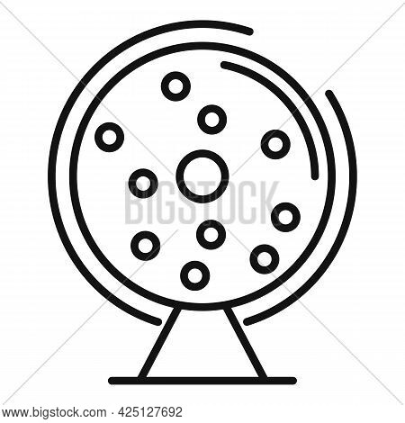 Fortune Wheel Icon Outline Vector. Game Lottery. Lucky Wheel