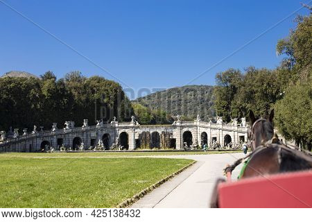 Royal Palace In Caserta, Italy - April 10, 2017: Royal Palace In Caserta, Reggia Di Caserta, Tourist