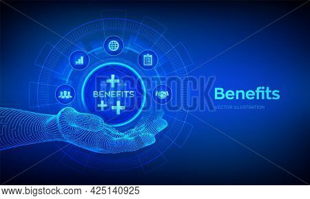 Employee Benefits Help To Get The Best Human Resources Concept On Virtual Screen. Business For Profi