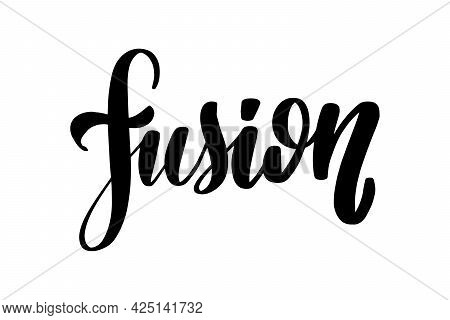Fusion Lettering. Handwritten Stock Lettering Typography. Calligraphy