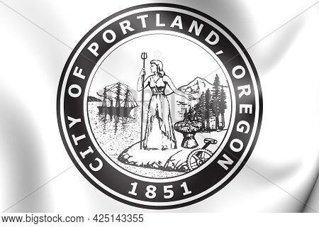 3d Seal Of Portland (oregon), Usa. 3d Illustration.