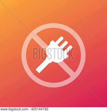Electrical Plug, Do Not Connect Vector Sign