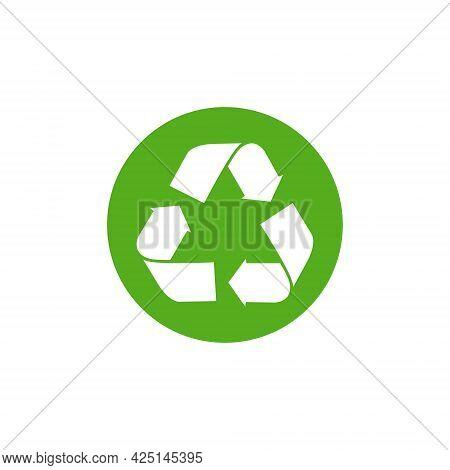 Vector Waste Logo Sign. Arrow Reuse Earth Recycle Symbol Reuse Concept Icon