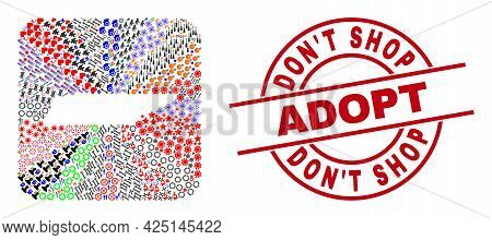 Vector Mosaic Tennessee State Map Of Different Symbols And Dont Shop Adopt Seal. Mosaic Tennessee St