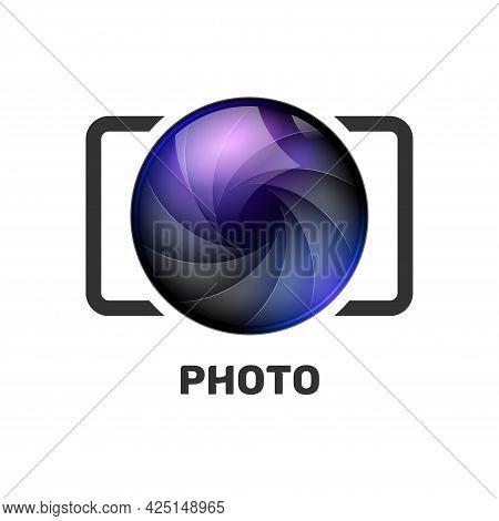 Photography Logo Template Modern Vector Creative Symbol. Shutter Lens Camera Icon Design Element