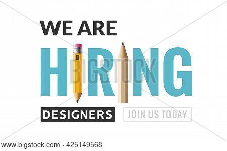 Hiring Graphic Designer Vacancy Poster. Hiring Job Graphic Designer Wanted Creative Vector Illustrat