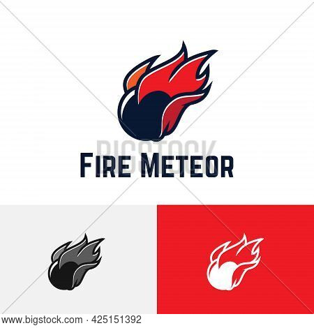 Fire Meteor Ball Comet Fall Space Game Sport Logo
