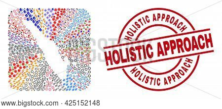 Vector Mosaic Sumatra Map Of Different Icons And Holistic Approach Badge. Collage Sumatra Map Design