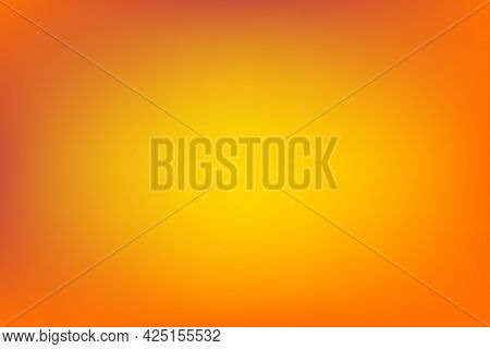 Abstract Orange Brown And Yellow Blurred Background, Smooth Gradient Texture Color, Shiny Bright Web