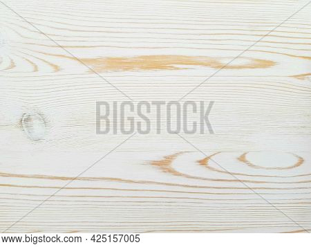 Background Texture Of Natural Wood Painted With White Paint.