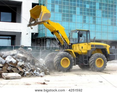Front Loader On Construction Site
