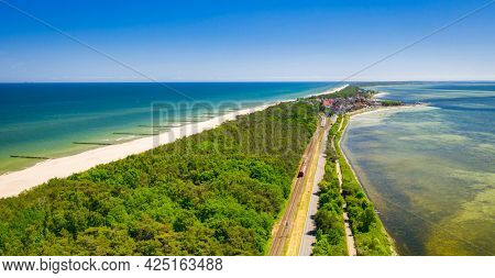 The coastline of the Baltic Sea with beautiful beaches on the Hel Peninsula, Poland.The coastline of the Baltic Sea with beautiful beaches on the Hel Peninsula, Poland.