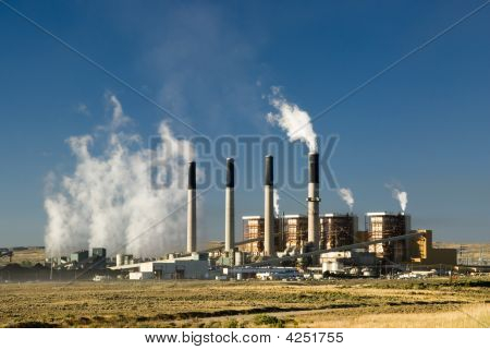 a coal fired electric power plant in Wyoming poster