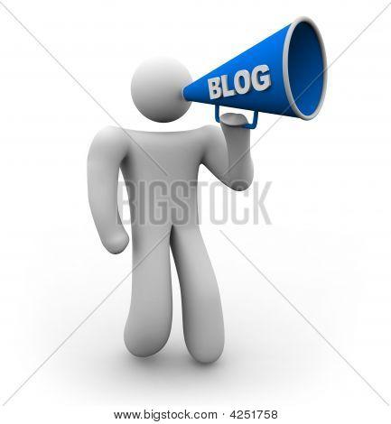 Blogger With Bullhorn