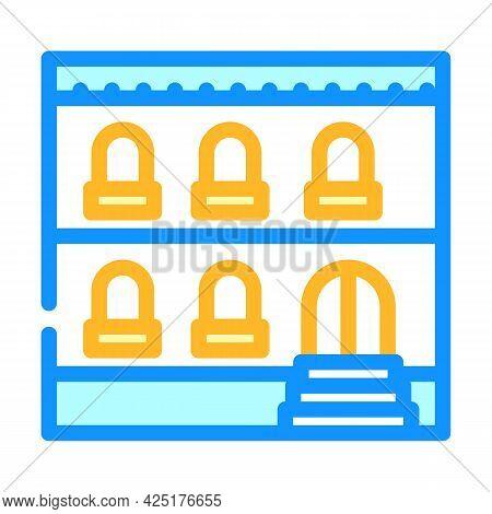 Arabian House Color Icon Vector. Arabian House Sign. Isolated Symbol Illustration