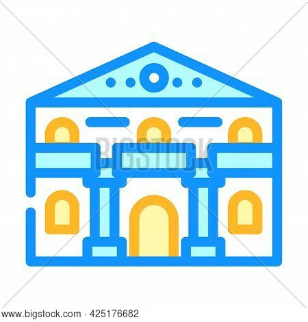 Ancient House Color Icon Vector. Ancient House Sign. Isolated Symbol Illustration