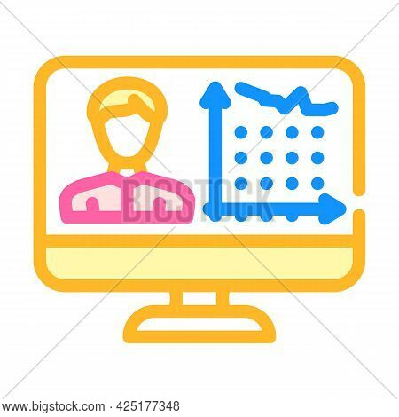 Client Activity Analysis Kyc Color Icon Vector. Client Activity Analysis Kyc Sign. Isolated Symbol I