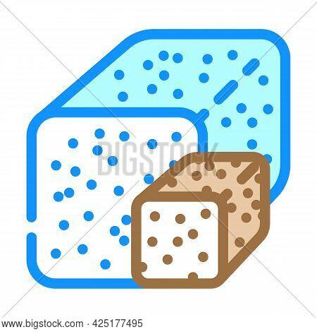Sugar Nutrition Color Icon Vector. Sugar Nutrition Sign. Isolated Symbol Illustration