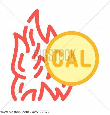 Burning Calories Color Icon Vector. Burning Calories Sign. Isolated Symbol Illustration