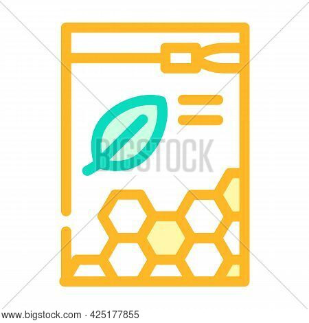 Organic White Beeswax Pellets Color Icon Vector. Organic White Beeswax Pellets Sign. Isolated Symbol