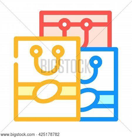 Handbags Stylist Color Icon Vector. Handbags Stylist Sign. Isolated Symbol Illustration