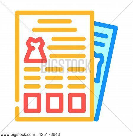 Catalog Stylist Color Icon Vector. Catalog Stylist Sign. Isolated Symbol Illustration