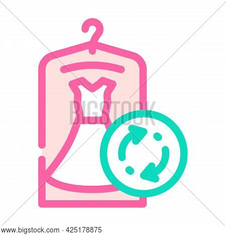 Dress Rent Service Color Icon Vector. Dress Rent Service Sign. Isolated Symbol Illustration