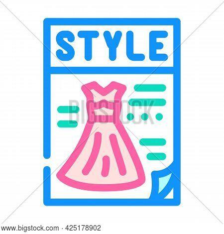 Magazine Style Color Icon Vector. Magazine Style Sign. Isolated Symbol Illustration