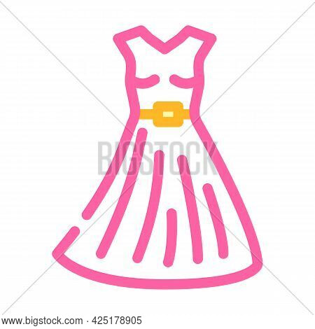 Dress Stylist Color Icon Vector. Dress Stylist Sign. Isolated Symbol Illustration