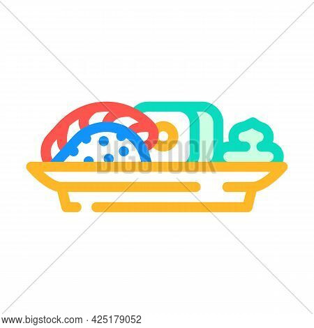 Sushi Japanese Cuisine Meal With Wasabi Color Icon Vector. Sushi Japanese Cuisine Meal With Wasabi S