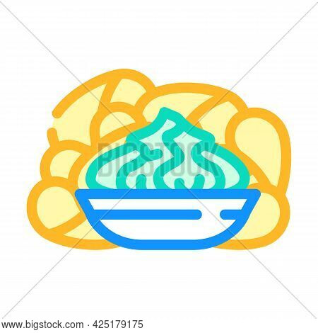 Crisps Wasabi Color Icon Vector. Crisps Wasabi Sign. Isolated Symbol Illustration