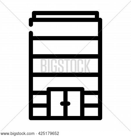 Without Windows Modern House Line Icon Vector. Without Windows Modern House Sign. Isolated Contour S