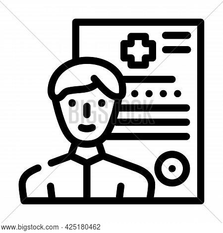 Medical Data Client Information Kyc Line Icon Vector. Medical Data Client Information Kyc Sign. Isol