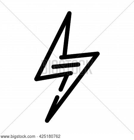 Energy Nutrition Line Icon Vector. Energy Nutrition Sign. Isolated Contour Symbol Black Illustration