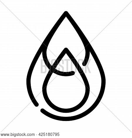Saturated Fat Line Icon Vector. Saturated Fat Sign. Isolated Contour Symbol Black Illustration