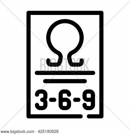Omega 369 Nutrition Fact Line Icon Vector. Omega 369 Nutrition Fact Sign. Isolated Contour Symbol Bl