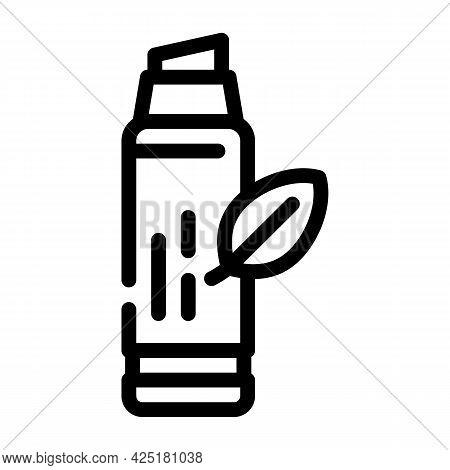 Lip Balm Line Icon Vector. Lip Balm Sign. Isolated Contour Symbol Black Illustration