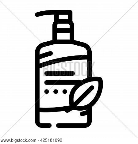 Facial Cleansing Milk Line Icon Vector. Facial Cleansing Milk Sign. Isolated Contour Symbol Black Il