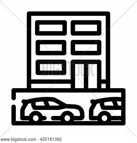 Underground Parking Line Icon Vector. Underground Parking Sign. Isolated Contour Symbol Black Illust