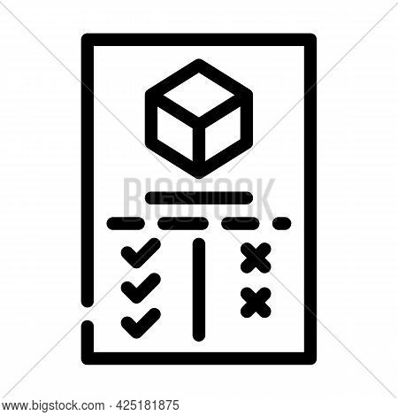 Analysis Plus And Minus Production Line Icon Vector. Analysis Plus And Minus Production Sign. Isolat