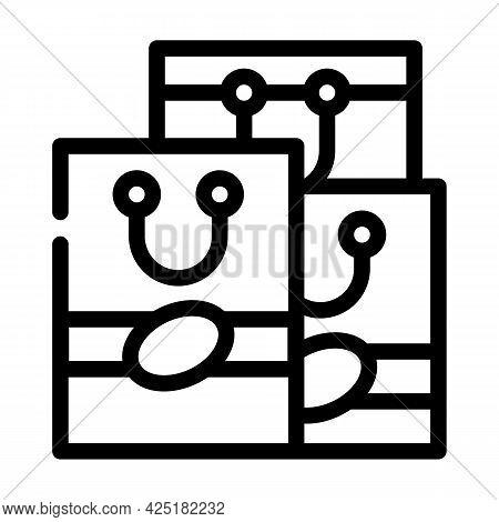 Handbags Stylist Line Icon Vector. Handbags Stylist Sign. Isolated Contour Symbol Black Illustration