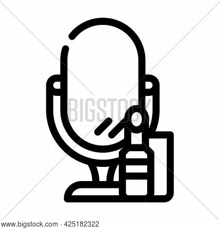 Cosmetics Stylist Line Icon Vector. Cosmetics Stylist Sign. Isolated Contour Symbol Black Illustrati