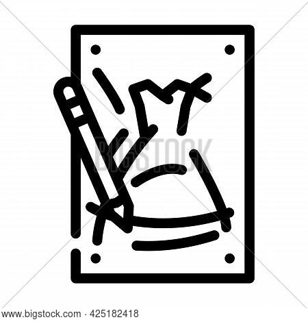 Sketches Stylist Line Icon Vector. Sketches Stylist Sign. Isolated Contour Symbol Black Illustration
