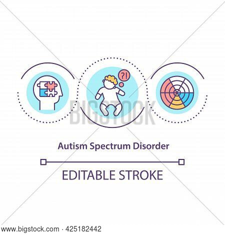 Autism Spectrum Disorder Concept Icon. Problems In Social Interections. Bad Communication. Health Pr