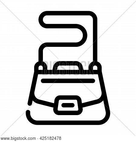 Bag Stylist Line Icon Vector. Bag Stylist Sign. Isolated Contour Symbol Black Illustration