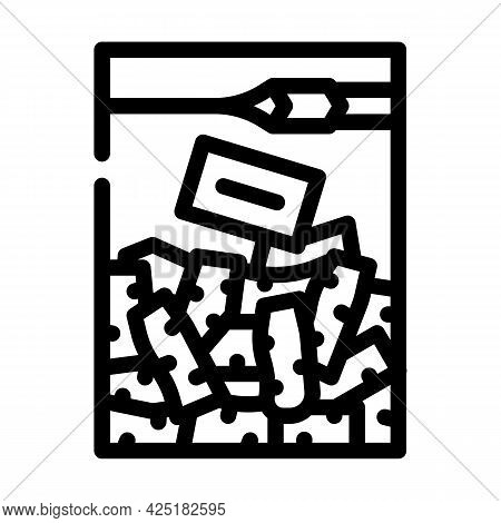 Chopped Root Wasabi Line Icon Vector. Chopped Root Wasabi Sign. Isolated Contour Symbol Black Illust