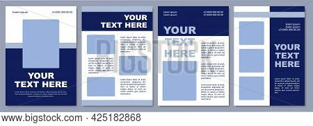 Promoting Specific Service Brochure Template. Flyer, Booklet, Leaflet Print, Cover Design With Copy