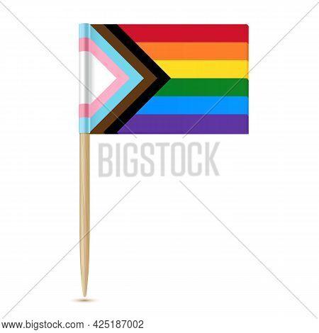Lgbtq Pride Flag. Rainbow Flag. Toothpick Isolater