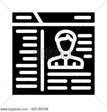 Cms With Data Kyc Glyph Icon Vector. Cms With Data Kyc Sign. Isolated Contour Symbol Black Illustrat