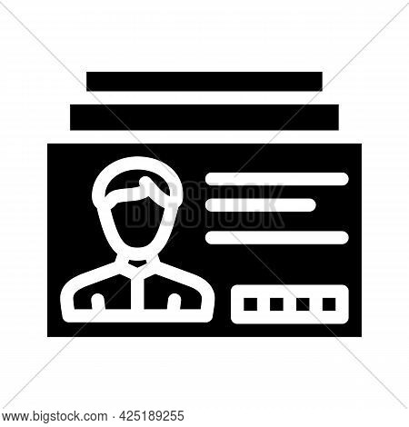 Client Card Kyc Glyph Icon Vector. Client Card Kyc Sign. Isolated Contour Symbol Black Illustration